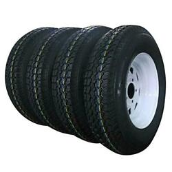4pcs Tires Trailer Tire And Rim Tubeless 1660 Lbs Millionparts St175-80d-13
