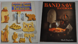 Lot Of 2 Woodworking Books -band Saw Handbook And Scroll Saw Patterns