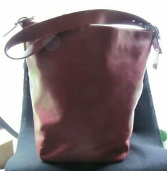 #STUNNING TRUE RED COACH LEGACY LEATHER BUCKET PURSE bag tote case #9151 $99.99
