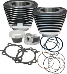Sands Cycle 910-0206 Big Bore Cylinder Kit 106in Black Powder-coated .