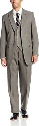 Stacy Adams Menand039s Mars Big And Tall Vested 3 Piece Suit