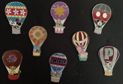 Disney Hot Air Balloons Mystery Box Collection Complete 8 Pin Set