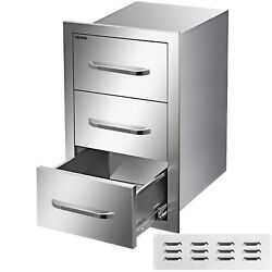 16x28.5 Outdoor Kitchen Drawers Triple Access Storage Bbq Drawer Grill Station