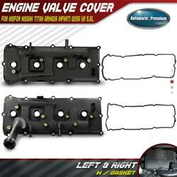 2x Engine Valve Cover W/ Gasket For Nissan Armada Pathfinder Titan Left And Right