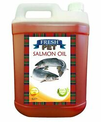Pure Salmon Oil 100 - For Horses Dogs And Cats Fresh Pet Fish Bait 5l Container