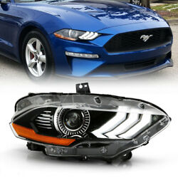 Fit 18-21 Ford Mustang Passenger Side Led Drl Projector Headlight Front Lamp Rh