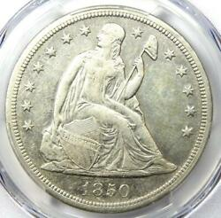 1850-o Seated Liberty Silver Dollar 1 - Pcgs Au Details - Rare Early Date Coin