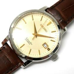 Seiko Mechanical Automatic Sara005 4l25-00a0 38mm Analog Watch Working Excellent