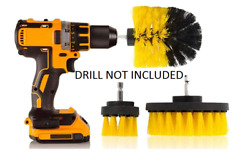 Drill Brush Attachments Set Power Scrubber Carpet Tile Grout Cleaning Shower Car