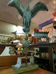 Antique Early Copper American Eagle Weathervane - Beautiful Piece
