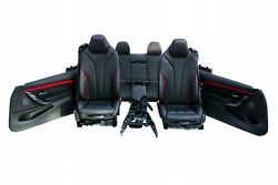 Bmw F33 M-package Interior Leather Seats Sport Console Akzent Rot Set Lhd