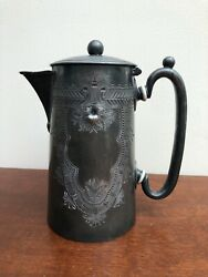 Vintage Ornate Silver Plated Tea Coffee Pot By Wm Briggs And Co Sheffield