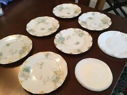 Limoge China - 5andrdquo Bread Plates Flower Design Great Condition