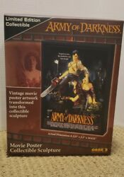 Army Of Darkness Movie Poster Collectible Sculpture Limited Edition Very Rare