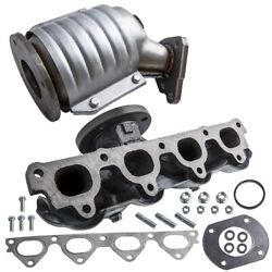 Exhaust Manifold W/ Catalytic Converter For Honda Civic I4 D16y7 Engine New