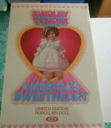 Vintage Shirley Temple Limited Edition Porcelain Doll Nib Ideal 16 1982