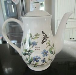 Gorgeousroyal Cuthbertsonflora Lidded Coffee Pot5 Cup7 3/8 Inches Tall
