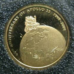 Cook Islands 10 Dollars 2009 Gold Proof Coin 40th Anniversary Of Moon Landing