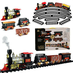 Vintage Electric Operated With Light Smoke Sound Christmas Train Kids Toy Gift