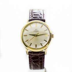 1960's Vintage 10k Gold, Stainless Steele, Leather Band Gfbez