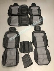 2019+ Ram 1500 Big Horn Black And Gray Custom Factory Style Leather Seat Covers