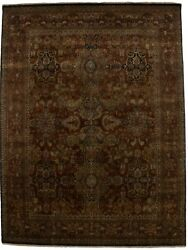 Rusty Red Floral Classic Style 8x10 Extra Fine Handmade Oriental Rug Home Carpet