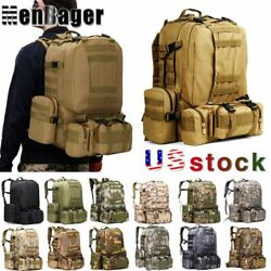 60L Outdoor Tactical Military Molle Backpack Rucksack Travel Camping Hiking Bag $28.19