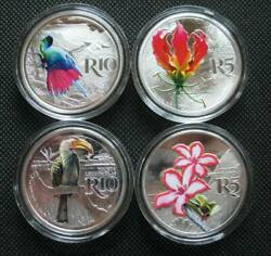 South Africa R5-r10 2019 Silver Proof Color Coin Kruger To Canyons Biosphere Set