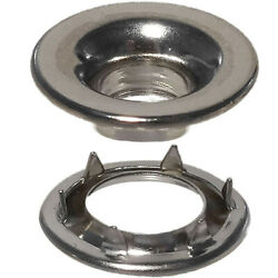 0 Rolled Rim Grommet And Spur Washer Nickle Plated Brass Marine Grade 144 Sets