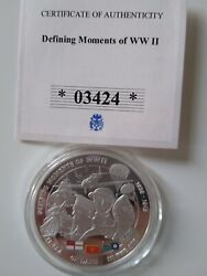 Coin Collecting, Ww11 Cu Silver Plated Spot Gold And Colour Of Defining Moments