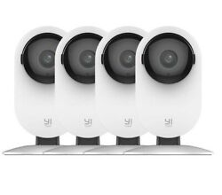 YI 4pc Home Camera 1080p Wireless IP Security Surveillance System Night Vision