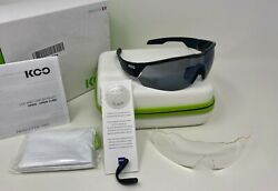 Kask Koo CEY00003.201 Open Cube Black Cycling Sunglasses Lens by Zeiss® SMALL $175.00
