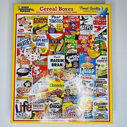 White Mountain Puzzles Cereal Boxes 1000 Thicker Xl Piece 24x30 Vintage Food