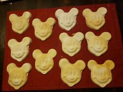 Mickey Mouse Chalkware Face Lot Of 11 Raw Ready For Paint