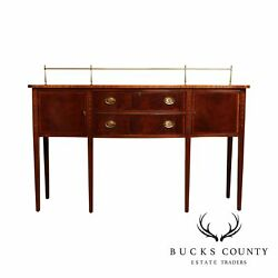 Ethan Allen 18th Century Collection Mahogany Inlaid Hepplewhite Sideboard C