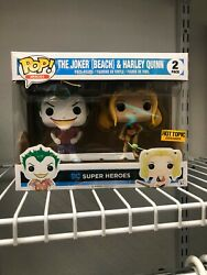 The Joker Beach and Harley Quinn Hot Topic Exclusive 2 Pack Funko POP $22.00