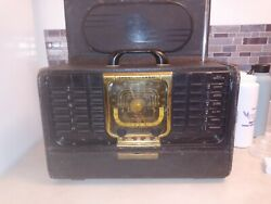Vintage Zenith Radio Trans- Oceanic Clipper For Parts Repair With Instructions