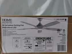 Petersford 52'' Integrated Led Indoor White Ceiling Fan W/light Kit And Remote Hdc
