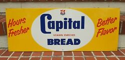 Vintage Capital Bread Country Store Sign Vitamin Enriched Cb