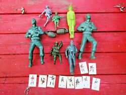 12 Us Army German War Wounded Soldier Model Kit Toy Grenade Lot Paratrooper