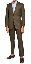 Brioni Mens Lightweight Green Wool Two-piece Suit Size 40r Us