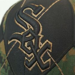 Chicago White Sox Black Camo Hat New Era Official Merchandise 7 3/8, 59fifty