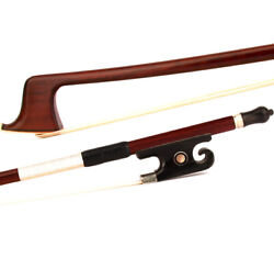 4/4 Violin Bow Master Advanced Antique Ironwood Black Ox-horn Snail Tail Silver
