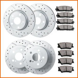 Fit 2012 2013 2014 - 2017 Toyota Camry Front Rear Brakes Rotors And Ceramic Pads