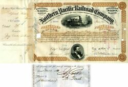Northern Pacific Railroad Company Issued To And Signed By Jay Cooke In Trust - S
