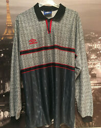 Vintage Umbro Manchester 90s Grey Style Long Sleeve - Xl - New