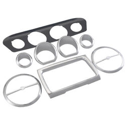 8pcs Motorcycle Gauge Bezel Trim Mount Plate For Harley Electra Street Tri Glide