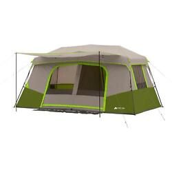 Instant Cabin 11 Person Camping Tent 14 X 14 Outdoor Hiking Tailgating Pop Up