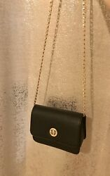 Black Over Shoulder Purse With Gold Chain $12.00
