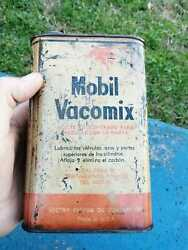 Tin Mobil Vacomix Old Can Very Rare Oil Socony Vacuum
